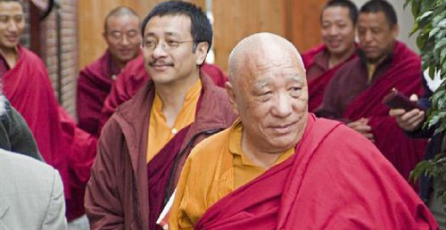 Khenpo Tsultrim Gyampso & Rinpoche During Nalanda West Inaguration300_155