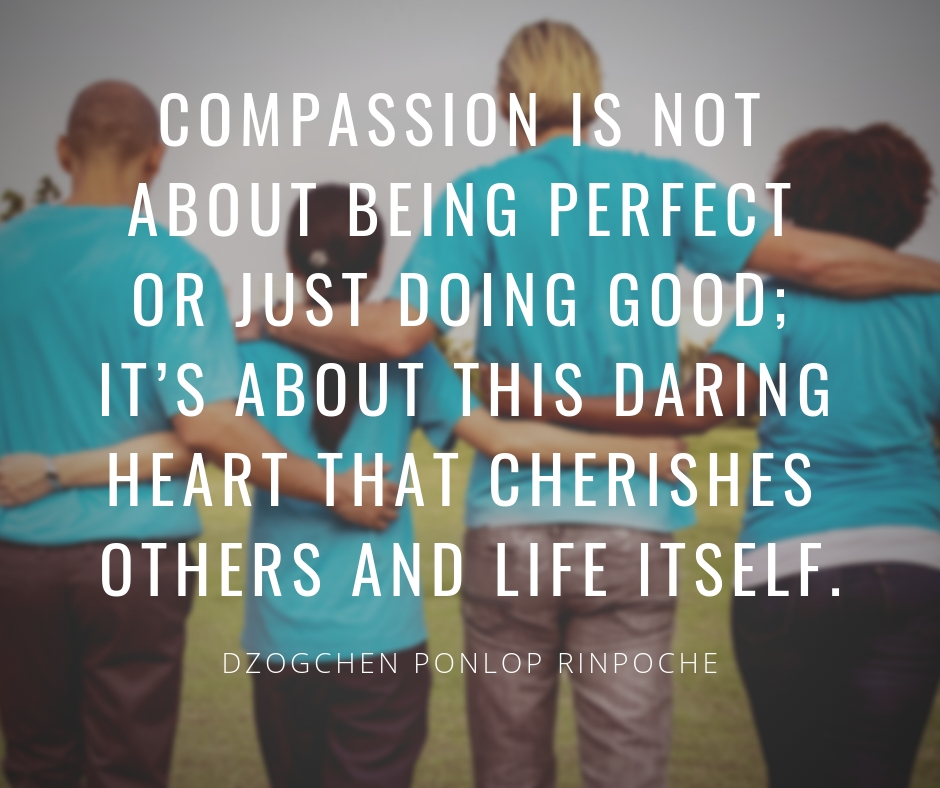 Compassion is not about being perfect