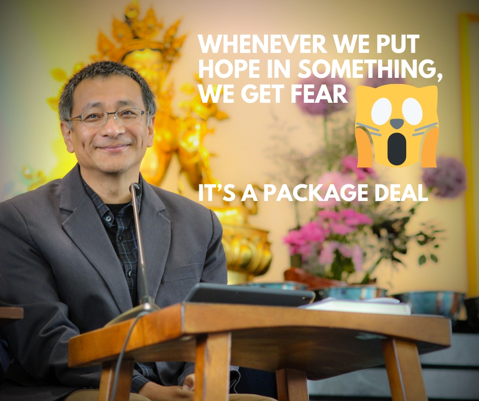 Hope and fear, a package deal