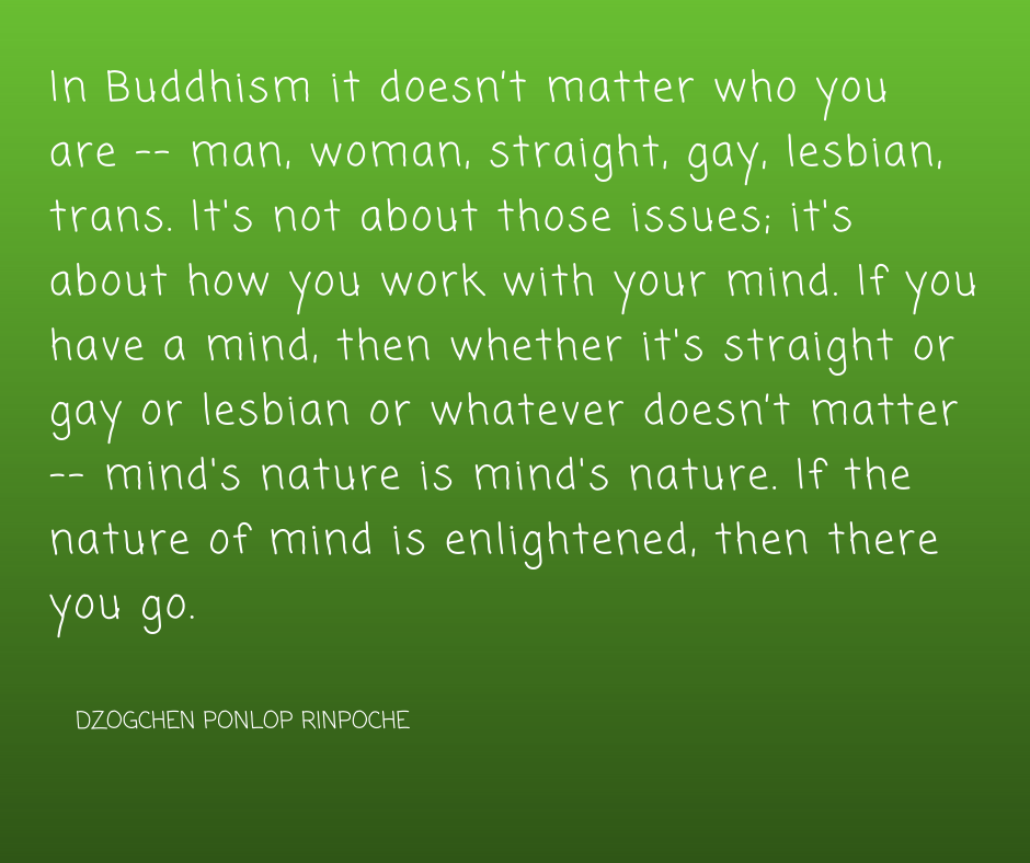 quote_In Buddhism it doesn't matter who you are . . .