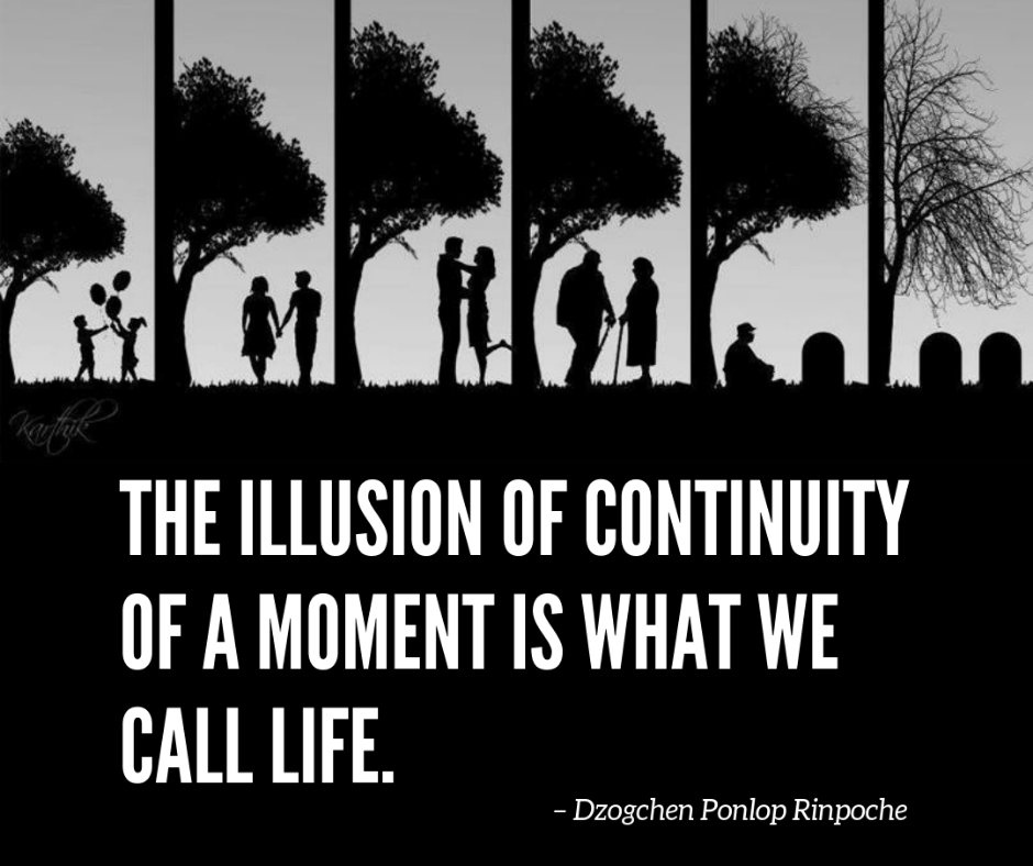 quote_The illusion of continuity of a moment is what we call life.
