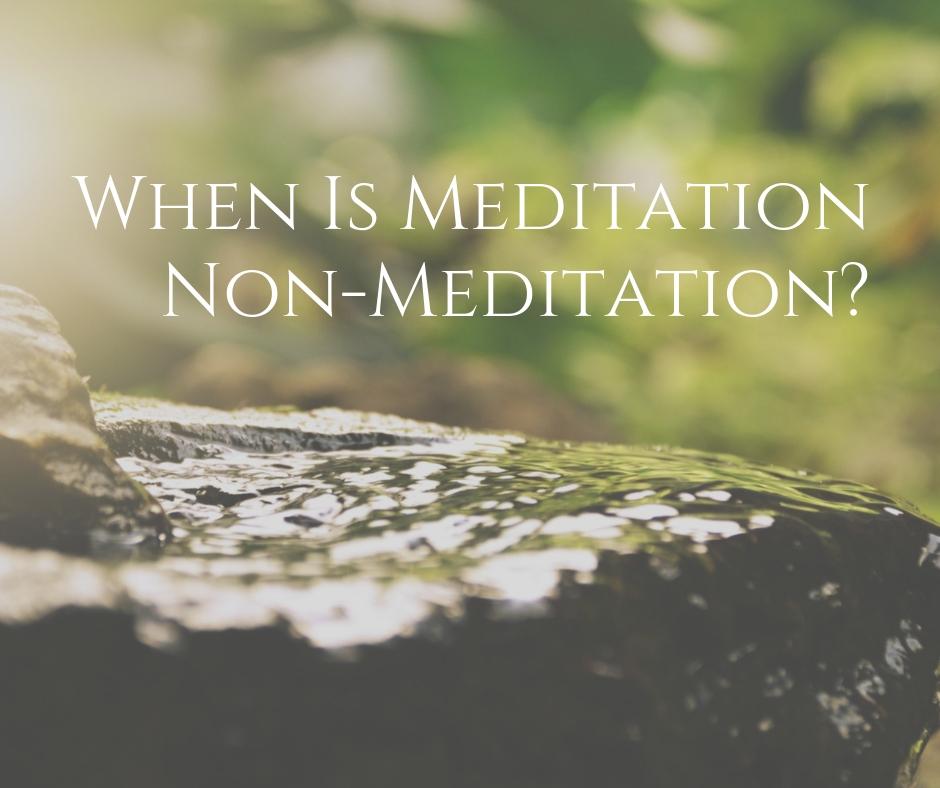 When Is Meditation Non-Meditation? | Dzogchen Ponlop Rinpoche